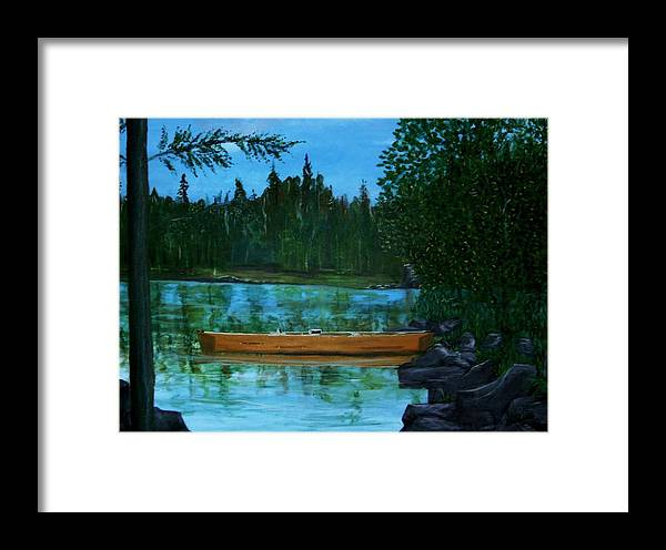 International Falls Framed Print featuring the painting The Wedding Gift by Richard Hubal