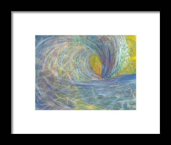 Wave Framed Print featuring the painting The Wedge by Arlissa Vaughn