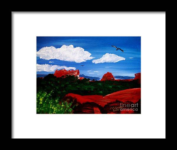 Acrylic Framed Print featuring the painting The West by Michael Grubb