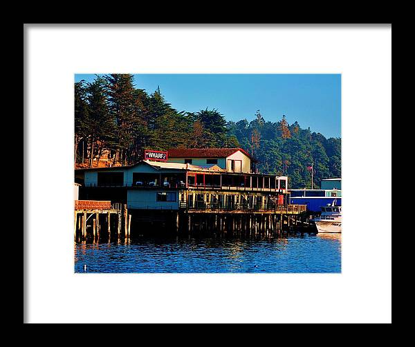 Marina Framed Print featuring the photograph The Wharf by Helen Carson