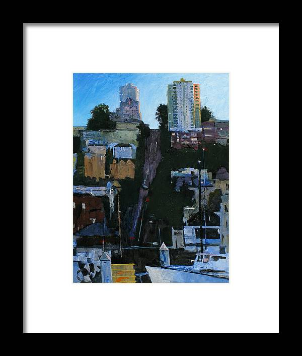 San Francisco Framed Print featuring the painting The Wharf by Robert Bissett