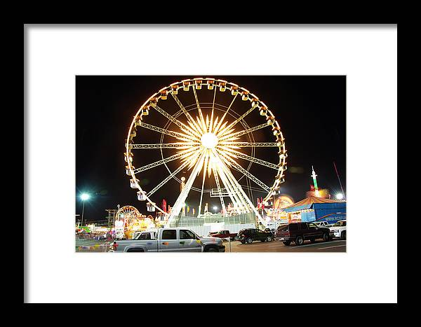 State Fair Framed Print featuring the photograph The Wheel by Kenneth Hess