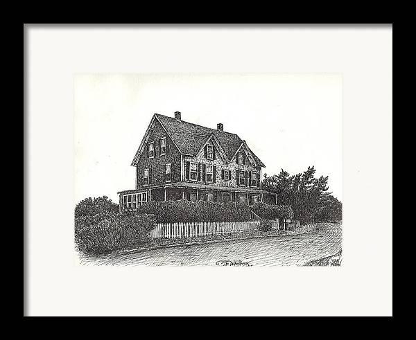 Nantucket Framed Print featuring the drawing The Wheelhouse by Dan Moran