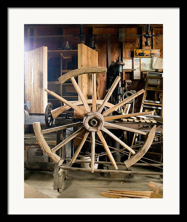 Decor Framed Print featuring the photograph The Wheelwright's Shop by Ron Kizer
