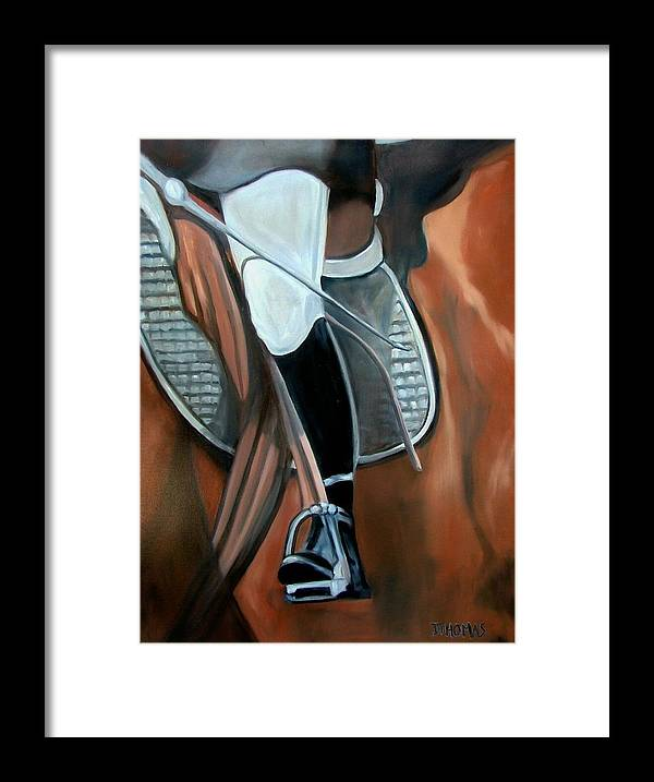 Horse Framed Print featuring the painting The Whip by Donna Thomas