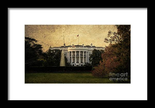 White Framed Print featuring the photograph The White House by Rob Hawkins