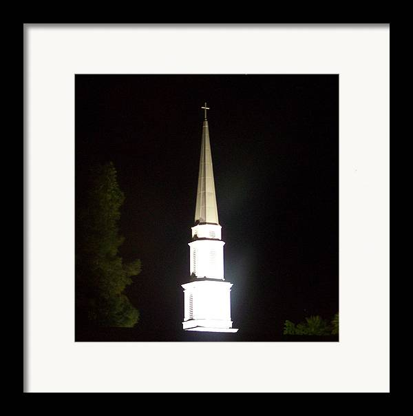 Church Framed Print featuring the photograph The White Spire by Cathy Kaiser