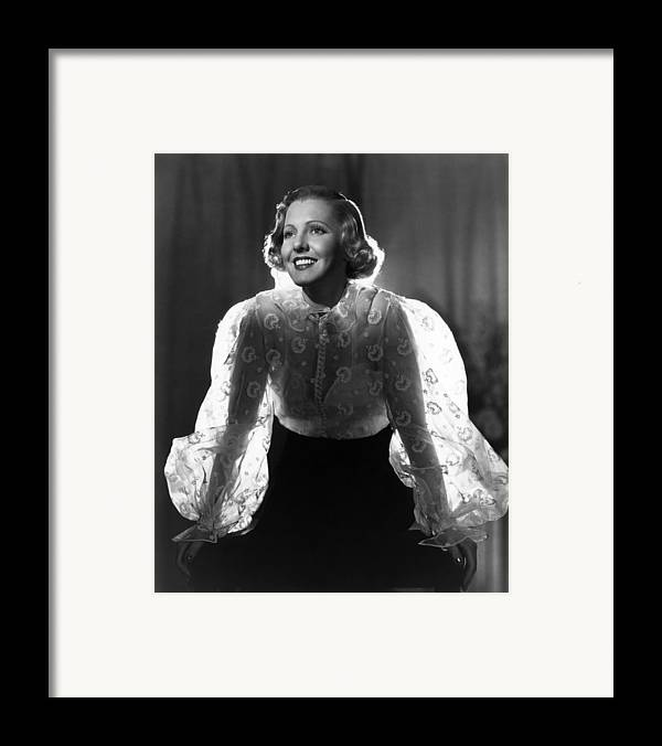 1930s Movies Framed Print featuring the photograph The Whole Towns Talking, Jean Arthur by Everett