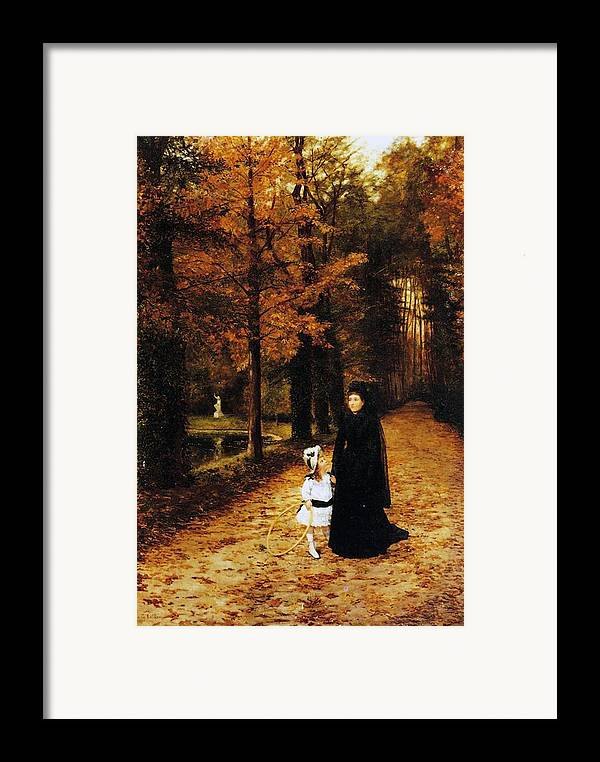 The Widow's Walk Framed Print featuring the painting The Widow by Horace de Callias