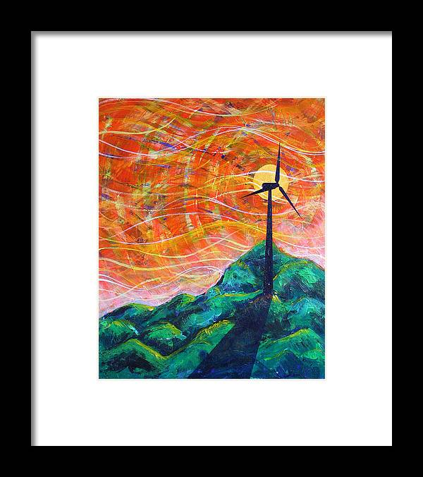 Rollin Framed Print featuring the painting The Wind by Rollin Kocsis