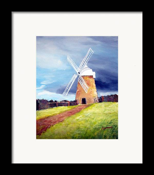 Painting Framed Print featuring the painting The Windmill by Julie Lamons