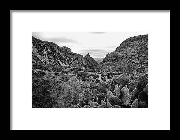 Big Bend Framed Print featuring the photograph The Window 2 Black And White by Judy Vincent