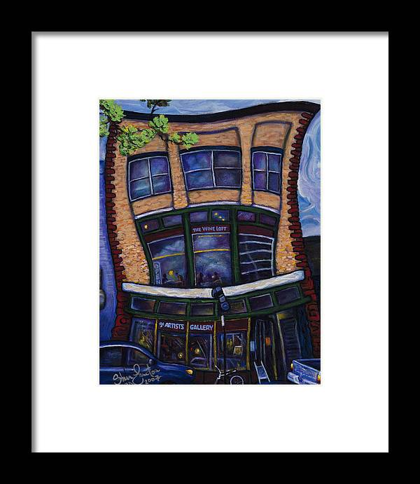 Landscape Framed Print featuring the painting The Wine Loft by Steve Lawton