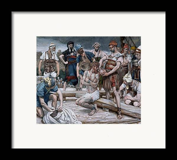 Dutch Courage Framed Print featuring the painting The Wine Mixed With Myrrh by Tissot