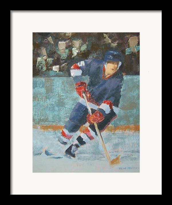 Sports Portrait Framed Print featuring the painting The Winger by Ernie Ferguson