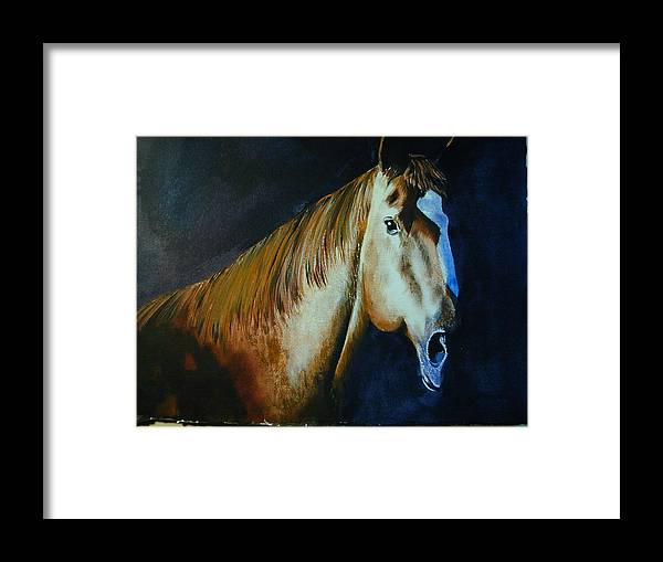 Animal Framed Print featuring the painting The Winner by Dwight Williams