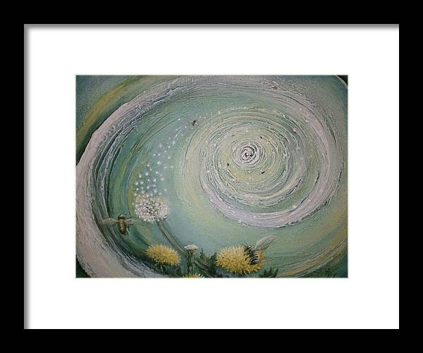 Conceptual Framed Print featuring the painting The Wish by Laura Roy