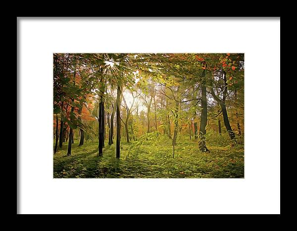 The Woods Framed Print featuring the painting The Woods by Harry Warrick