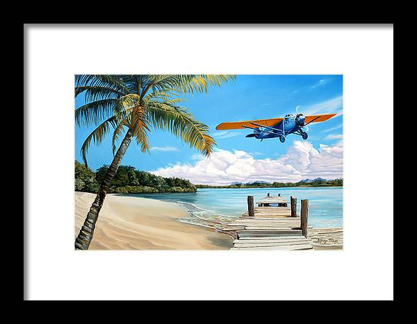 Aircraft Art Framed Print featuring the painting The Woolaroc by Kenneth Young