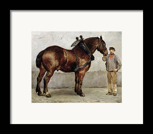 Horse Framed Print featuring the painting The Work Horse by Otto Bache
