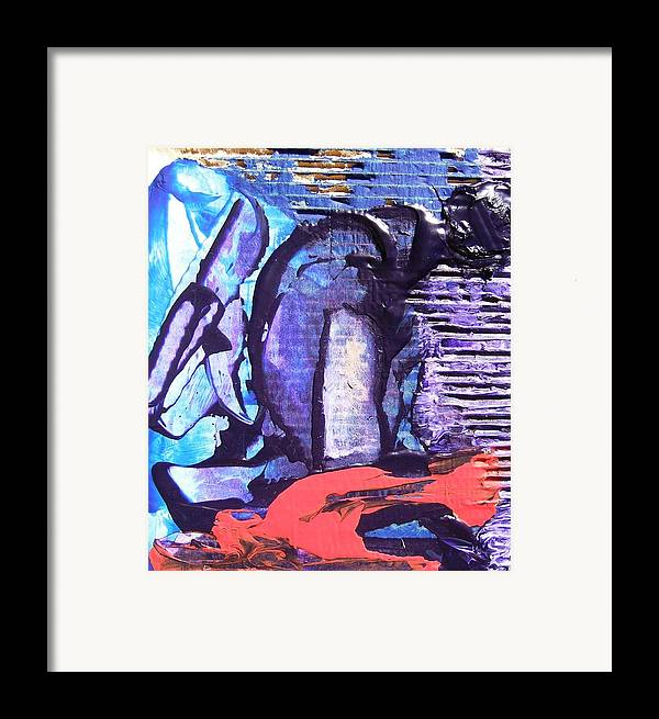Realistic Framed Print featuring the painting The Worker by Bruce Combs - REACH BEYOND