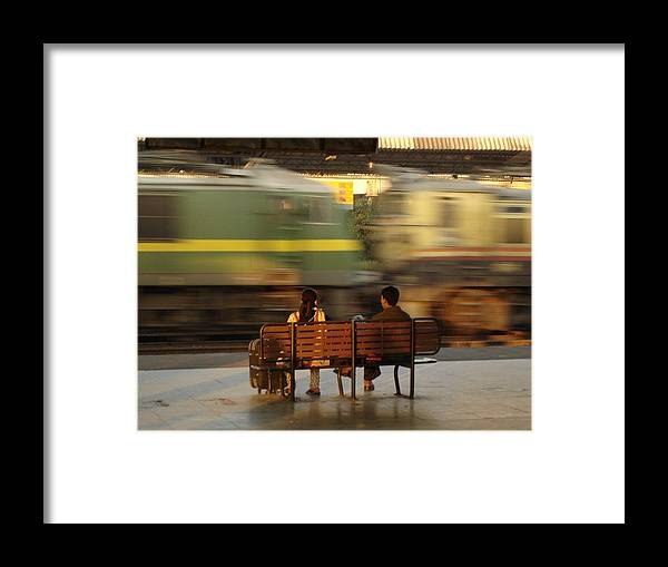 Train Framed Print featuring the photograph The World Going By by Padamvir Singh
