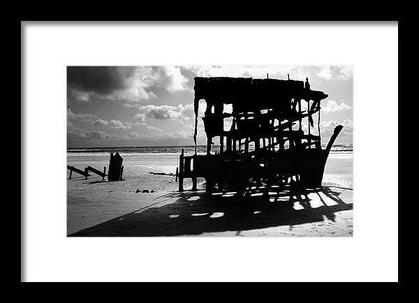 Shipwreck Framed Print featuring the photograph The Wreckage Of The Peter Iredale II by Todd Fox