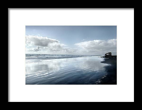 Shipwreck Framed Print featuring the photograph The Wreckage Of The Peter Iredale by Todd Fox