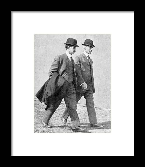 Orville Wright Framed Print featuring the photograph The Wright Brothers, Us Aviation Pioneers by Science, Industry & Business Librarynew York Public Library
