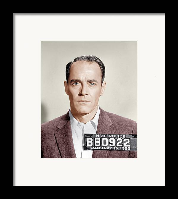 1950s Portraits Framed Print featuring the photograph The Wrong Man, Henry Fonda, 1956 by Everett