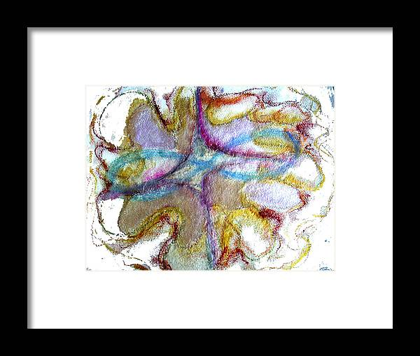 Abstract Framed Print featuring the painting The Zone by Erika Brown