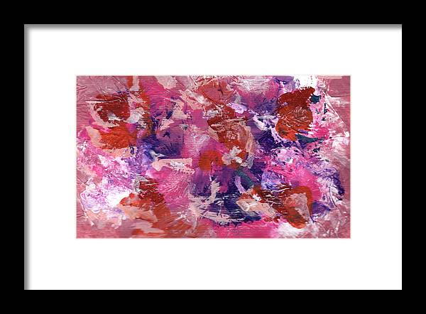 Abstract Framed Print featuring the painting Theater A by Joanne Cox