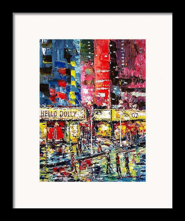 Abstract Framed Print featuring the painting Theatre Avevue by Claude Marshall