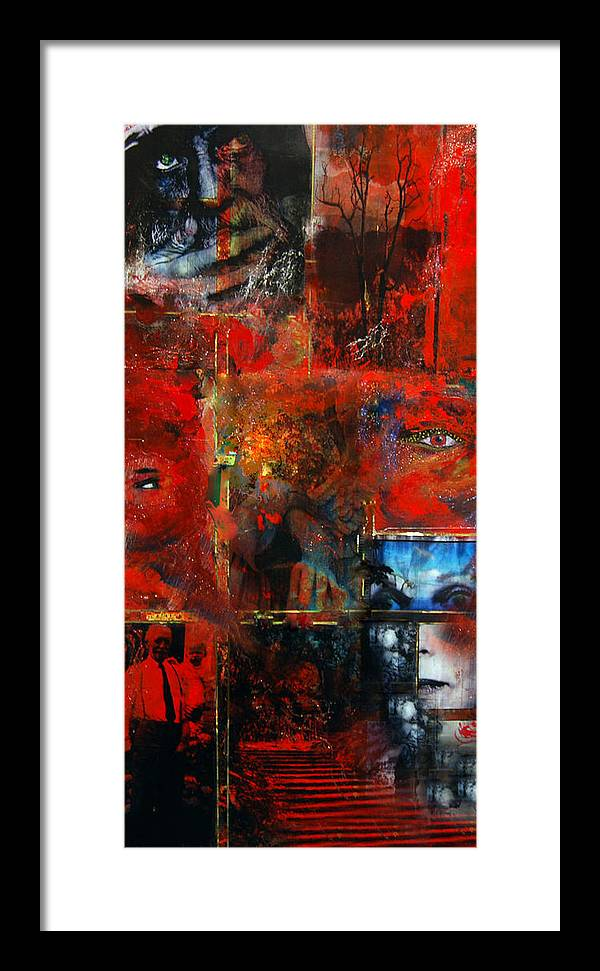 Faces Framed Print featuring the digital art Then And Now by Patricia Motley