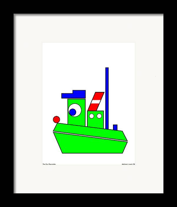 Theophile Framed Print featuring the digital art Theophile The Tug by Asbjorn Lonvig