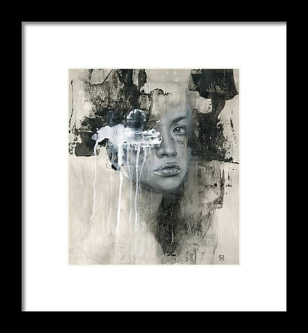 Woman Framed Print featuring the painting There Is No Going Back by Patricia Ariel