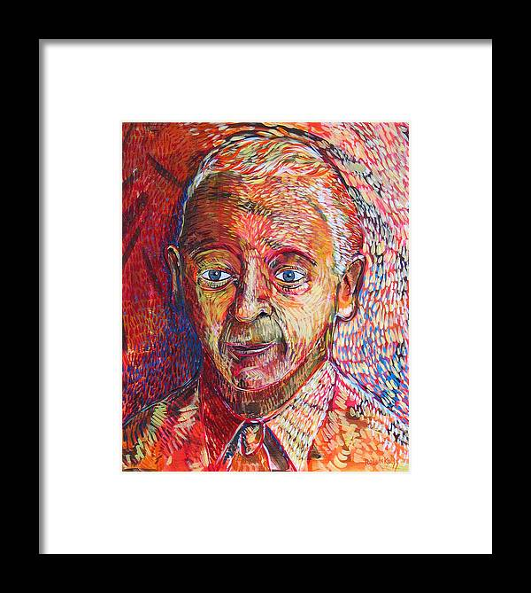 Orange Framed Print featuring the painting There Is No Past There Is No Future by Rollin Kocsis