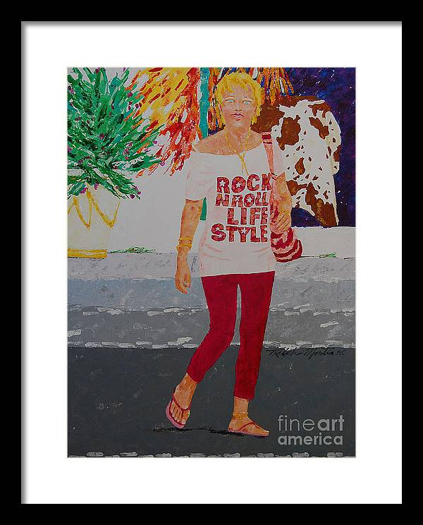 People Situation Framed Print featuring the painting There Is Something About You by Art Mantia