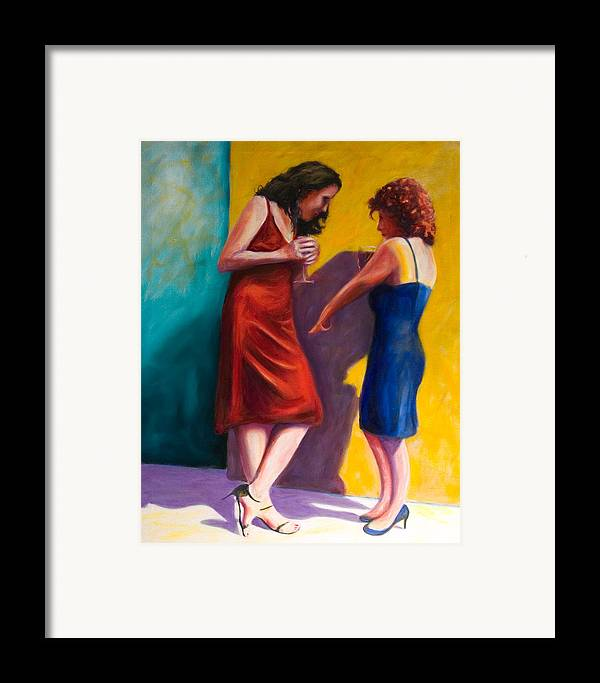 Figurative Framed Print featuring the painting There by Shannon Grissom