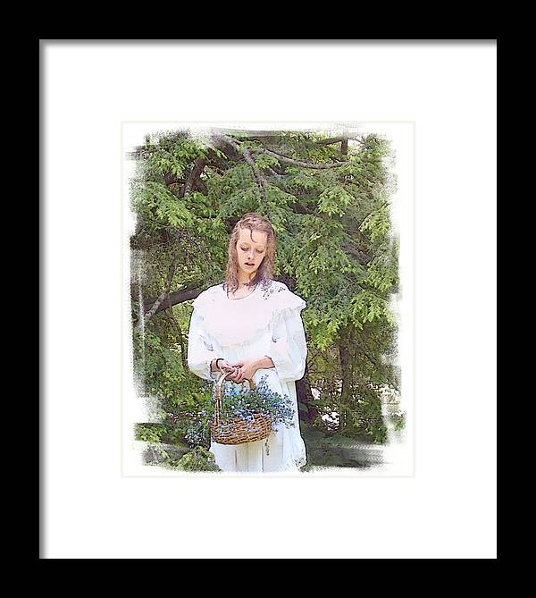 Girl Framed Print featuring the photograph There Was A Little Girl... by Rose Guay