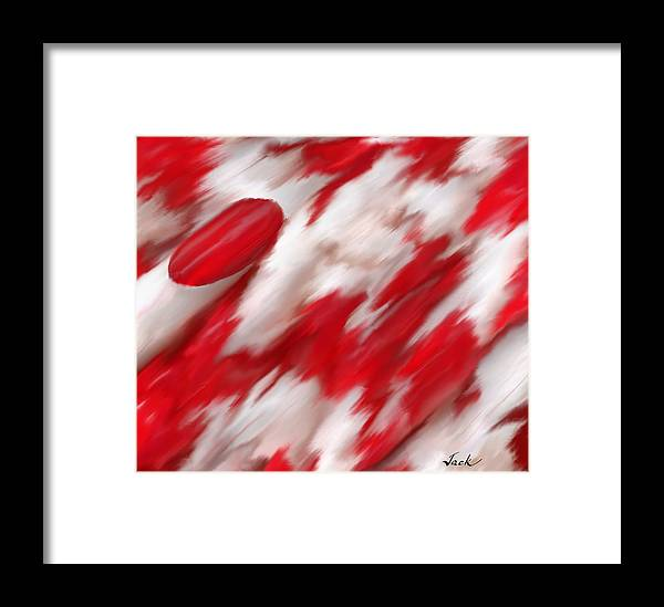 Ou Football Framed Print featuring the digital art There's Only 1 by Jack Bunds