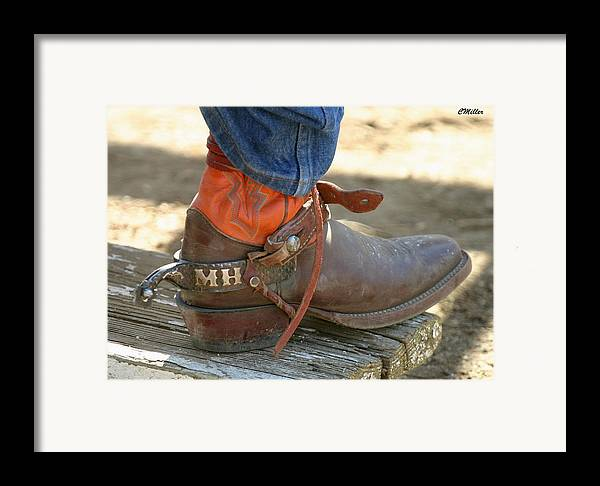 Rodeo Framed Print featuring the photograph These Belong To Marv.. by Carol Miller