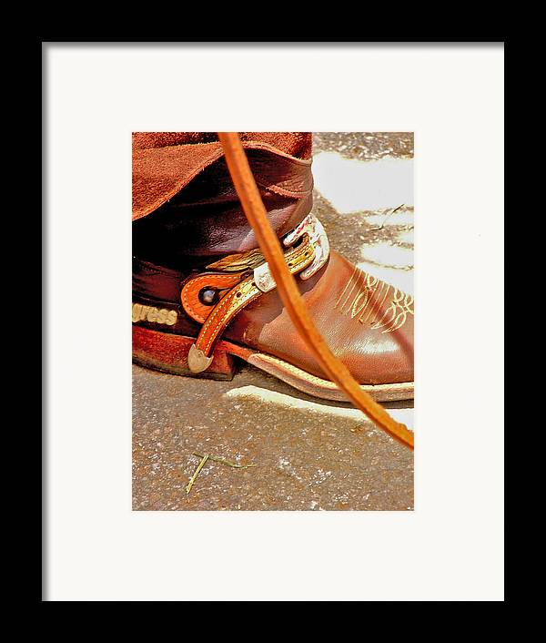 Horse Framed Print featuring the photograph These Boots Were Made For Riding by Donna Thomas