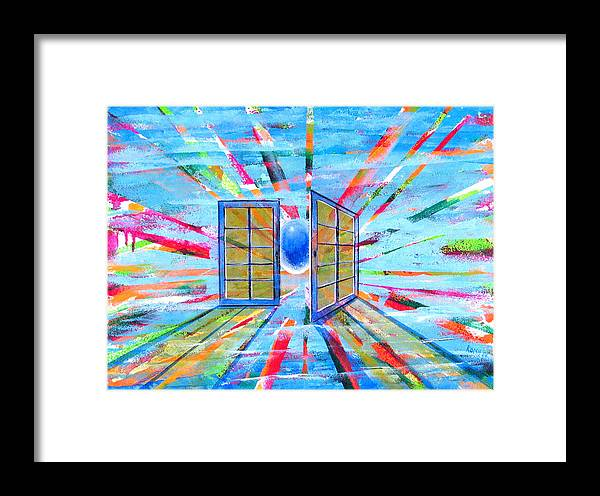 Spirt Framed Print featuring the painting These Open Doors by Rollin Kocsis