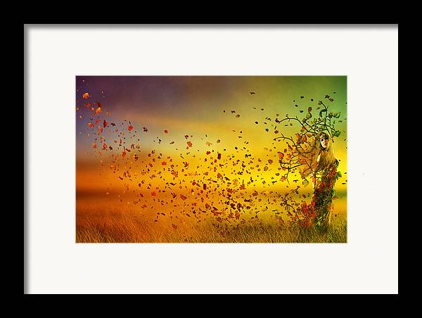 Fall Framed Print featuring the digital art They Call Me Fall by Mary Hood