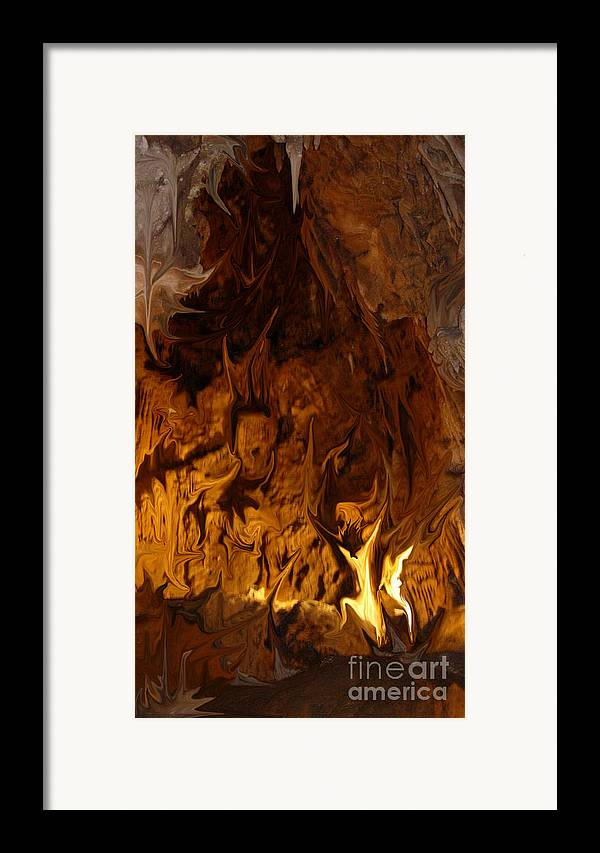 Mystical Framed Print featuring the digital art They Dance In The Firelight by Stephanie H Johnson
