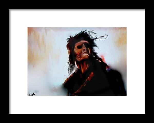 Native American Framed Print featuring the digital art They Once Were Free by V Bodie