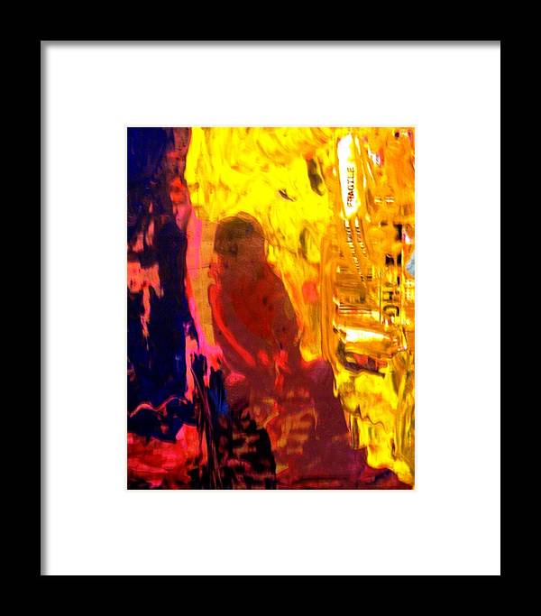 Abstract Framed Print featuring the painting They Sent Home His Remains by Bruce Combs - REACH BEYOND