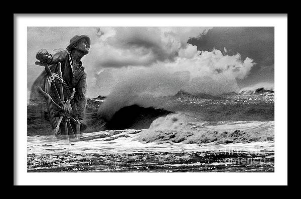 They That Go Down To Sea Bnw by Skip Willits