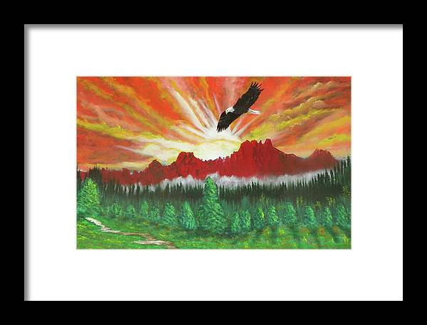 Acrylic Framed Print featuring the painting They That Wait Upon The Lord  Isa 40 31 by Laurie Kidd